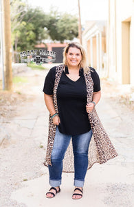 Adult QUE PASO Leopard Duster Vest ~ Crazy Train - The Hot Polka Dot