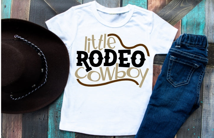 Boys Rodeo Shirt, Little Rodeo Cowboy - The Hot Polka Dot