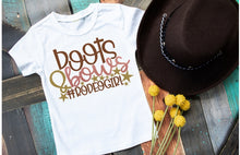 Load image into Gallery viewer, Girls Rodeo Shirt, Boots & Bows #RodeoGirl - The Hot Polka Dot