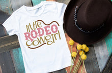 Load image into Gallery viewer, Girls Rodeo Shirt, Little Rodeo Cowgirl - The Hot Polka Dot