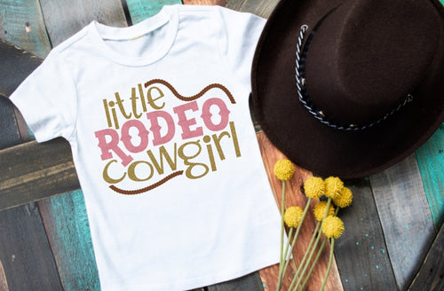 Girls Rodeo Shirt, Little Rodeo Cowgirl - The Hot Polka Dot