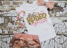 Load image into Gallery viewer, Girls Rodeo Shirt, Dirt is Rodeo Glitter, Choose Shirt Style - The Hot Polka Dot