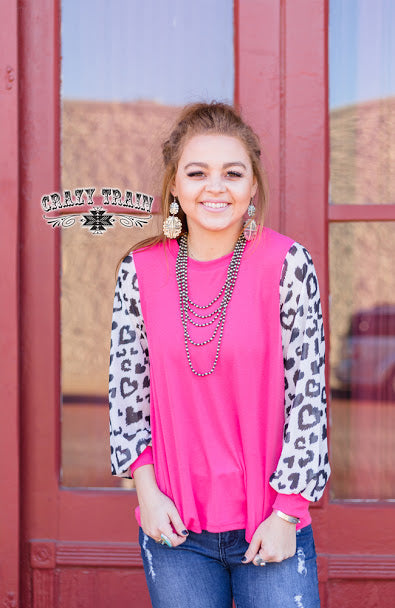 **SALE** RESTLESS HEART PINK TOP ~ Crazy Train - The Hot Polka Dot