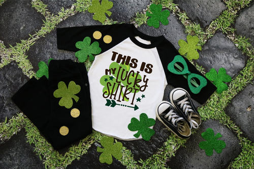 This is My Lucky Shirt, Boys St. Patrick's Day Shirt, Choose Shirt Style and Color - The Hot Polka Dot
