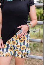 Load image into Gallery viewer, SUMMER TIME SUNFLOWER FRINGE SHORTS ~ Crazy Train - The Hot Polka Dot