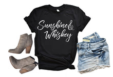 Load image into Gallery viewer, Sunshine & Whiskey Shirt or Tank, Choose Style & Colors - The Hot Polka Dot