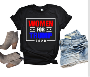 Women for Trump 2020 Graphic Tee, Adult Unisex TShirt or Raglan
