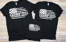 Load image into Gallery viewer, Trump 2020 Distressed Flag Matching Family Shirts