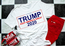 Load image into Gallery viewer, TRUMP 2020 KEEP America Great Shirt, Choose Shirt Color - The Hot Polka Dot