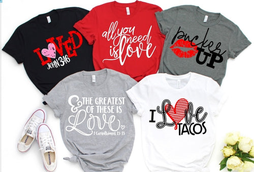 FACEBOOK Vday Shirt Special, Pick Design & Shirt Color, Valentine's Day Shirts - The Hot Polka Dot
