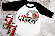 Load image into Gallery viewer, HEART BREAKER with Skull Boys Valentine's Day Shirt, Boys Valentine's Day Shirt, Choose Shirt Style - The Hot Polka Dot