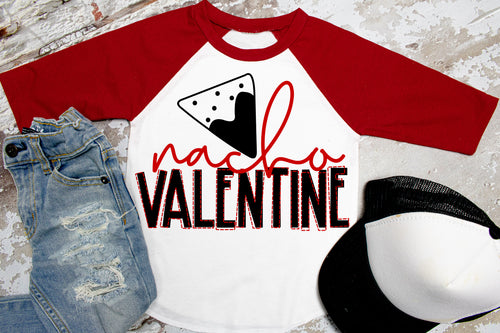 NACHO VALENTINE Boys Valentine's Day Shirt, Boys Valentine's Day Shirt, Choose Shirt Style - The Hot Polka Dot