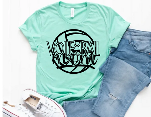 Volleyball MOM Graphic Tee, Choose Shirt Color - The Hot Polka Dot