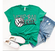Load image into Gallery viewer, Volleyball MOM Graphic Tee, Choose Shirt Color - The Hot Polka Dot