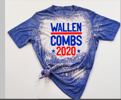 *BLEACHED* Wallen & Combs 2020 Premium Graphic Tee