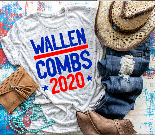Wallen & Combs 2020 Premium Triblend Graphic Tee