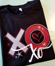 Load image into Gallery viewer, XOXO Valentine Shirt, Glitter XOXO Shirt, Choose Shirt Color - The Hot Polka Dot