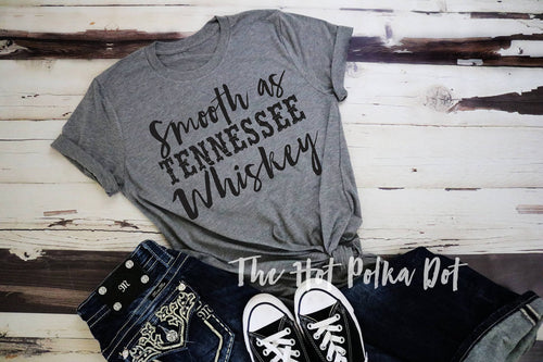 Smooth as Tennessee Whiskey Shirt, Adult Chris Stapleton Rodeo Concert Shirt - The Hot Polka Dot