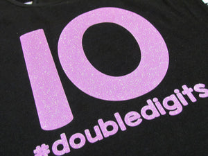 Girls 10th Birthday Shirt or Tank#doubledigits, Tenth Birthday Girl Shirt or Tank - The Hot Polka Dot
