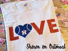 Load image into Gallery viewer, Astros LOVE Shirt, Adult or Youth Astros Shirt - The Hot Polka Dot