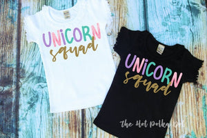 2 Matching Unicorn Birthday Shirts, Birthday Unicorn & Unicorn Mom Shirts - The Hot Polka Dot