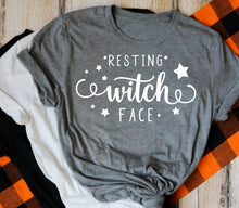 Load image into Gallery viewer, Resting Witch Face Shirt, Funny Halloween Shirt, Halloween Mom Shirt - The Hot Polka Dot