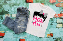Load image into Gallery viewer, Mommy & Daughter Matching Halloween Shirts, Matching MOMSTER and MONSTER, Mom and Me Shirts,Matching Halloween Family Shirts - The Hot Polka Dot