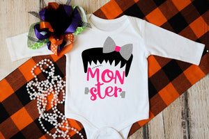 Mommy & Daughter Matching Halloween Shirts, Matching MOMSTER and MONSTER, Mom and Me Shirts,Matching Halloween Family Shirts - The Hot Polka Dot