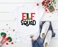 Load image into Gallery viewer, ELF Squad Christmas Shirt, Family Matching ELF SQUAD Shirts, Choose Shirt Color - The Hot Polka Dot