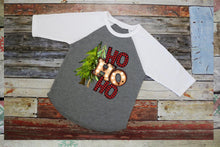 Load image into Gallery viewer, Boys Christmas Shirt, HO HO HO Buffalo Plaid, Choose Shirt Style - The Hot Polka Dot