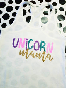 Adult Unicorn Squad Tank, Unicorn Mom, UNICORN SQUAD Friend Shirts, Matching Unicorn Shirts, YOU Chooser Shirt Color, Magical Unicorn Shirt - The Hot Polka Dot