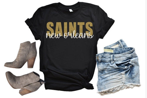New Orleans SAINTS Tank or TShirt, Kids & Adults - The Hot Polka Dot