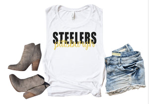 Pittsburgh STEELERS Tank or TShirt, Kids & Adults - The Hot Polka Dot