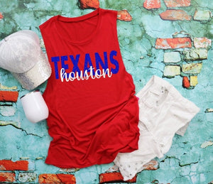 Houston TEXANS Tank or TShirt - The Hot Polka Dot