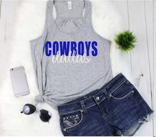 Load image into Gallery viewer, Dallas COWBOYS Tank or TShirt, Football Shirt, Kids & Adults - The Hot Polka Dot