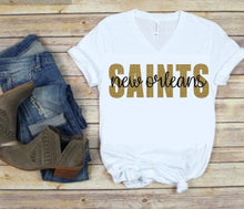 Load image into Gallery viewer, New Orleans SAINTS Tank or TShirt, Kids & Adults - The Hot Polka Dot