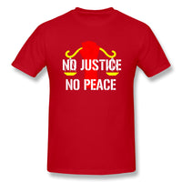 GEORGE FLOYD No Justice No Peace Men's Basic Short Sleeve T-Shirt