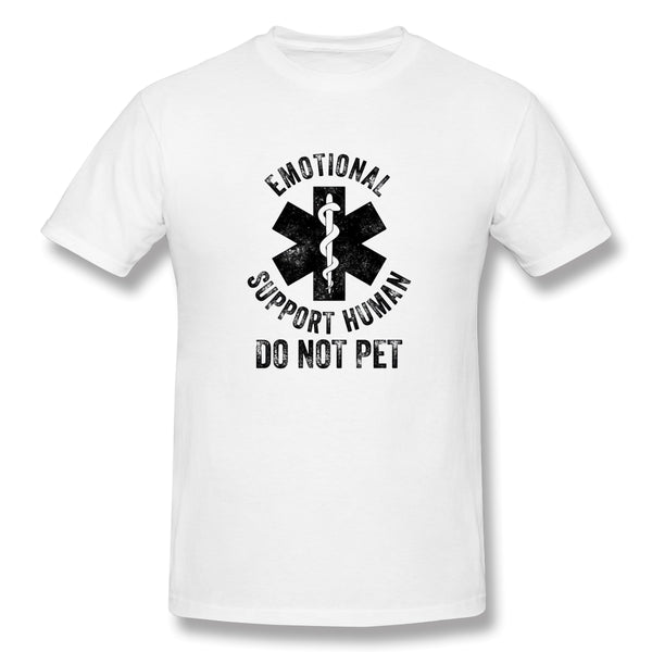 Emotional Support Human DO NOT PET Men's Basic Short Sleeve T-Shirt