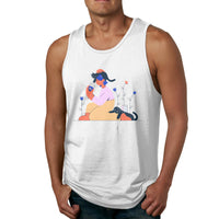 Stay At Home Men's Tank Top Shirt