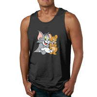Cat Tom And Mouse Jerry Men's Tank Top Shirt
