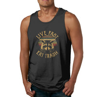 Live Fast Eat Trash Raccoon Men's Tank Top Shirt