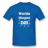 Worlds Okayest DM Dungeon And Dragans Men's Basic Short Sleeve T-Shirt