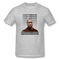 Justice For George Floyd I Can T Breathe Black Yyth Men's Basic Short Sleeve T-Shirt
