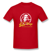 Stay Classy San Diego Ron Burgundy Saying Men's Basic Short Sleeve T-Shirt