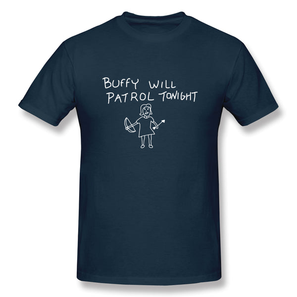 Buffy Will Patrol Tonight Men's Basic Short Sleeve T-Shirt