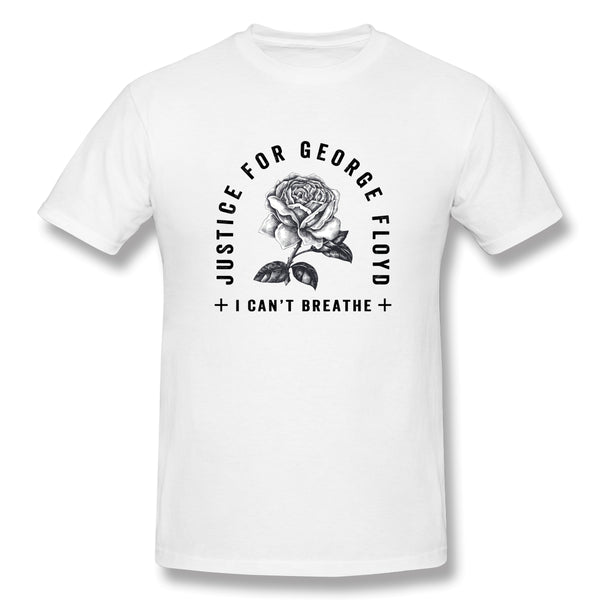 Justice For George Floyd I Can T Breathe S Men's Basic Short Sleeve T-Shirt
