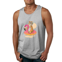Chillin (Flamingo Tiger) Tiger Men's Tank Top Shirt