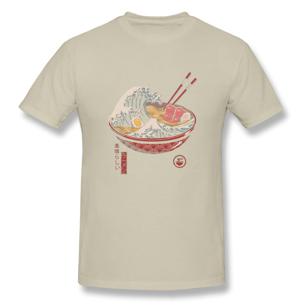 Ramen Is Great Wave Ramen Men's Basic Short Sleeve T-Shirt