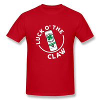 Luck O The Claw St Patricks Day Men's Basic Short Sleeve T-Shirt
