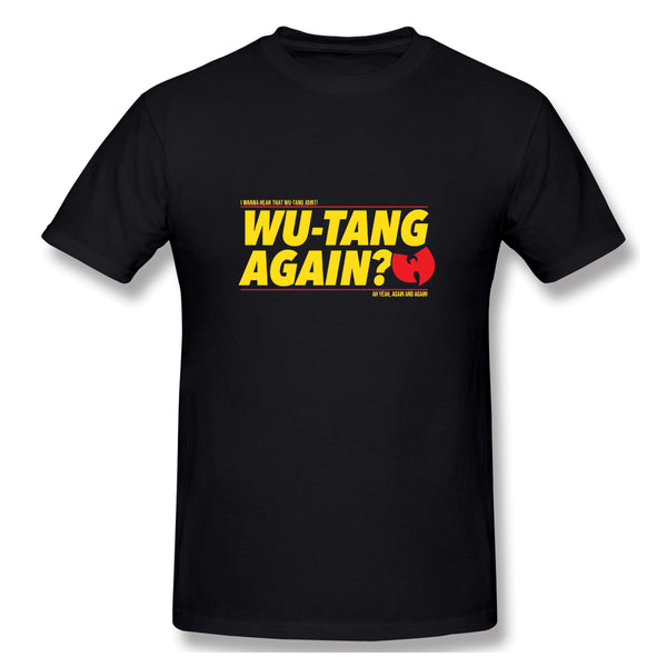 Wu Tang Again Hip Hops Men's Basic Short Sleeve T-Shirt